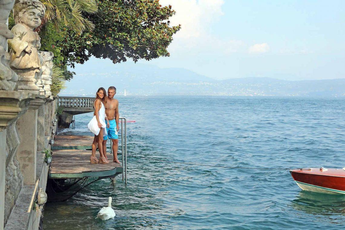 Historische Villa am Gardasee zur Miete am Seeufer 08