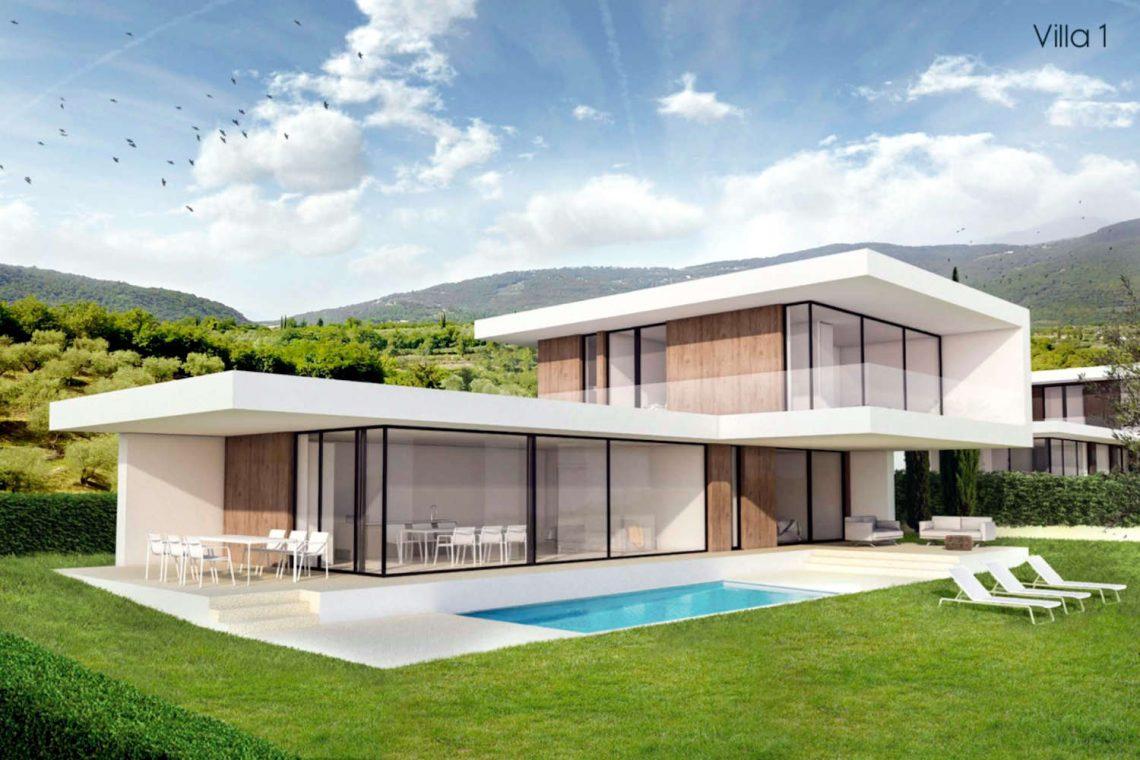 Villa Garda Seeblick in Panoramalage und Pool 02