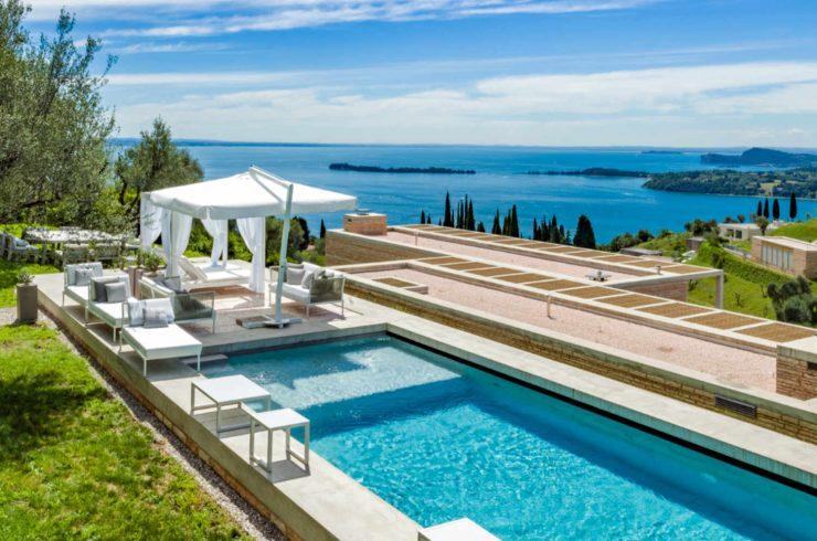 Geschützt: Luxusvilla am Gardasee zur Miete mit separatem Gästehaus
