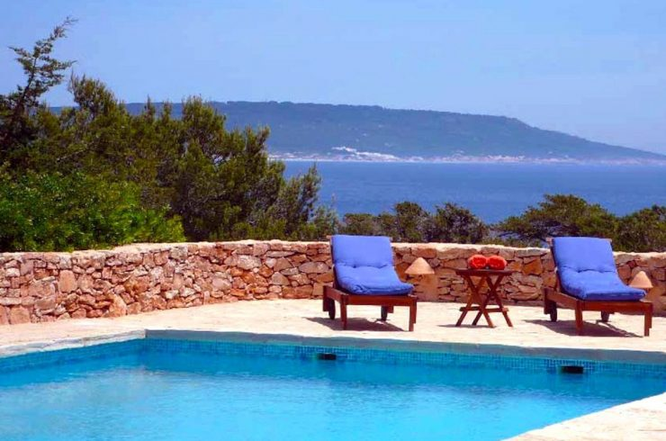Villa Formentera Miete mit Pool und Meerblick