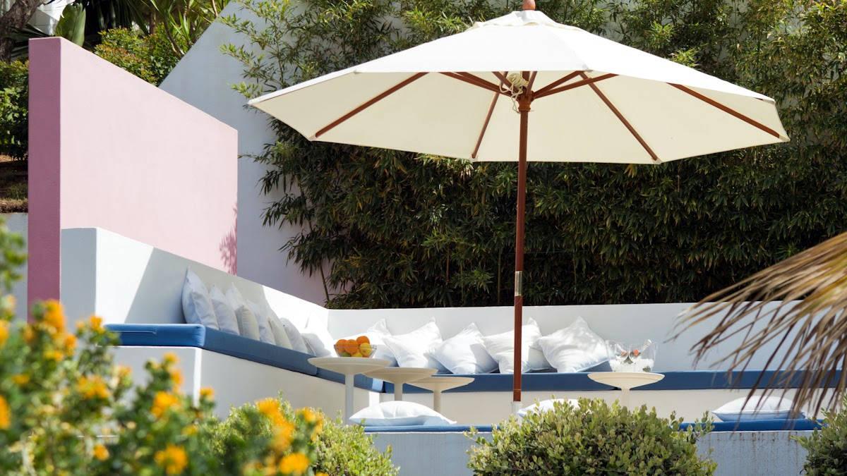 Luxusvilla Ibiza Meerblick zu vermieten mit Kiefernholz