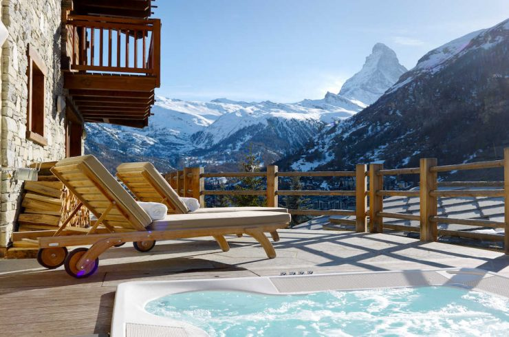 Luxus Chalet in Zermatt zur miete mit 5 Sterne Service